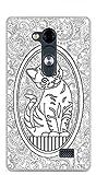 ONOZO Cat Drawing White Background Design Soft TPU Gel Case