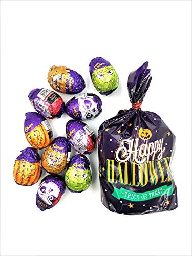 Halloween Trick or Treat Individually Foil Wrapped Cadbury Goo Heads Milk Chocolate Mix. in Halloween Themed Bag – 415g