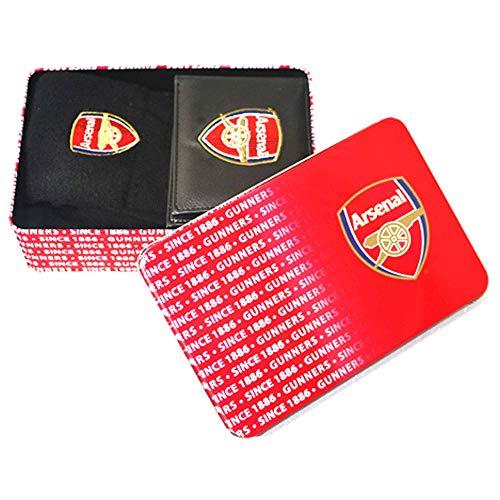 Gunners Offizielles Brieftasche aus Kunstleder und Socken im Arsenal FC, Geschenkset in Dose