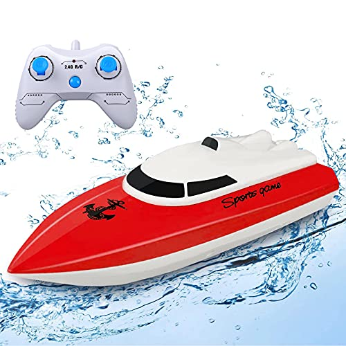 STOTOY RC Boats for Adults & Kids,Toys for 6+ Year Old Boys & Girls,2.4G HZ Electric Mini Remote Control Racing Boats for Pools & Lakes,Outdoor Radio Control Simulation Motor Boat(ONLY Work in Water)
