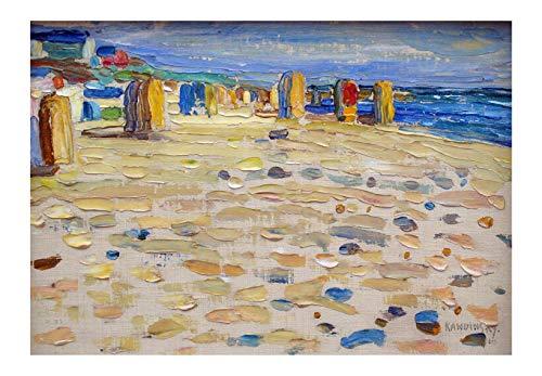 Spiffing Prints Wassily Kandinsky Holland - Sillas de playa Giclée - Pequeño, semibrillante, sin marco