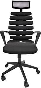 SH-CHEN Swivel Office Chair With Adjustable Armrest Lumbar Support Headrest Swivel Task Desk Chair Ergonomic Computer Chair High Back Mesh Office Chair Computer Office Chair Video Game Chairs Furnitur