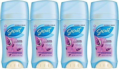 Secret Invisible Solid Deodorant Luxe Lavender 2.6 oz (Pack of 4)