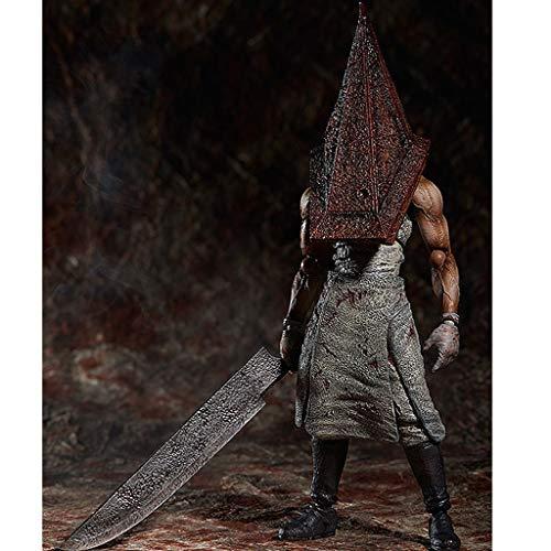 PY Figura de acción de Silent Hill pirámide roja Cosa Hecha a Mano de la Historieta Modelo Regalo Decoración Populares Juguetes de Silent Hill 2 3 4 Ordenadores muñeca Adornos