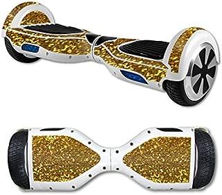 MightySkins Skin Compatible with Hover Board Self Balancing Scooter Mini 2 Wheel x1 Razor wrap Cover Gold Glitter