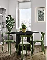 Symbiosis składany stół z materiału drewnopochodnego, czarny, 76 x 103 x 73,4 cm
