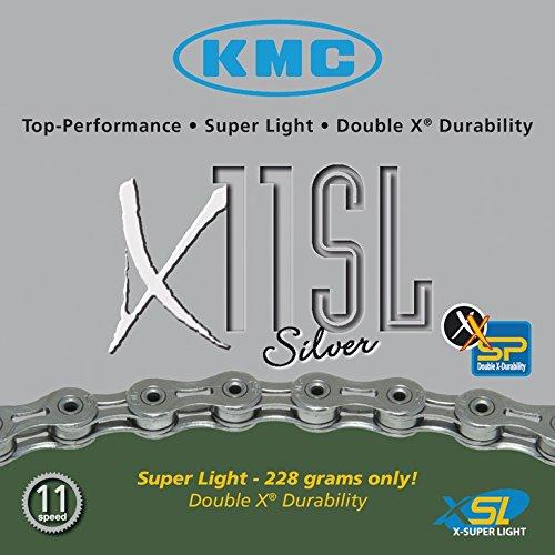 Fahrradkette KMC X-11-SL, silber 112 Glieder 11-fach