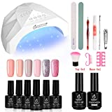 Beetles Gel Nail Polish Starter Kit with 48W UV/LED Light Nail Lamp Base - Best Reviews Guide