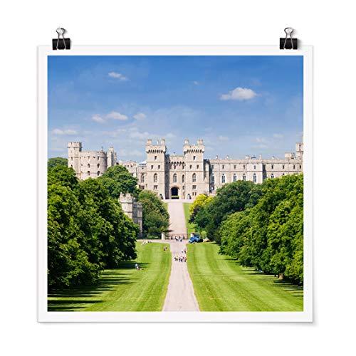 Bilderwelten Poster Déco Imprimé Windsor Castle Carré Fini satiné Autocollant 50 x 50cm