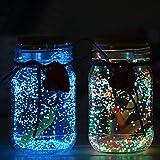 OSALADI 10G Resplandor en La Arena Oscura para Desear Botella Brillan en La Oscuridad Grava Grava Fotoluminiscente Grano Fluorescente para Acuario Piscina