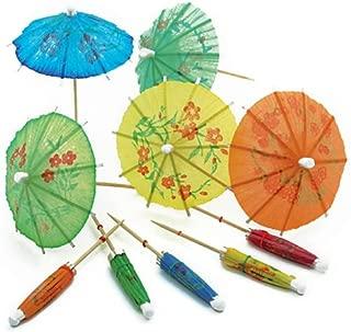 Norpro 188 24-Pack Decorative Cocktail Umbrella Picks, Multicolored