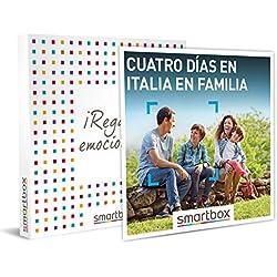 Smartbox - Caja Regalo - 4 días en Italia en Familia - Idea de Regalo - 3 Noches con Desayuno para 2 Adultos y hasta 2 niños