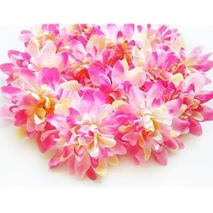 (12) Pink Silk Dahlia Flower Heads – 4″ – Artificial Flowers Dahlias Head Fabric Floral Supplies Wholesale Lot for Wedding Flowers Accessories Make Bridal Hair Clips Headbands Dress