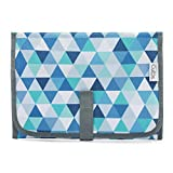 Baby Portable Changing Pad, Diaper Bag, Travel Mat Station Compact (Blue Pattern)