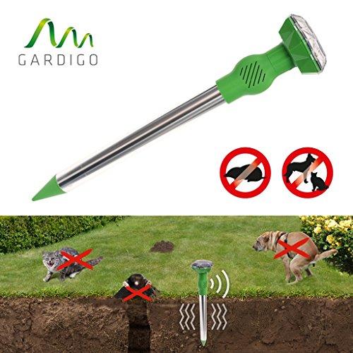 Gardigo Solar Maulwurf-Hunde-Katzenfrei Diamant, Kombigerät aus Maulwurfschreck und Hunde-Katzenabwehr