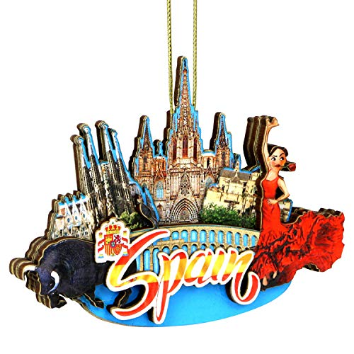 City-Souvenirs 3D Spain Christmas Ornament