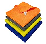 SOBBY Microfiber Car Cleaning Cloth Set Of 4 For Detailing & Polishing 40