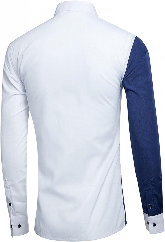 Shirts for Men,Men's Casual Shirts Formal Classic Button Down Dress Shirt Long Sleeve Printed Collar Slim Fit