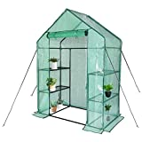 """SV SCOOL VALUE Greenhouse,Outdoor Greenhouse,Portable Greenhouse with Anchors and Roll-up Zipper Door,Grow Plants Seedlings Herbs or Flowers(56""""×30""""×76"""")"""