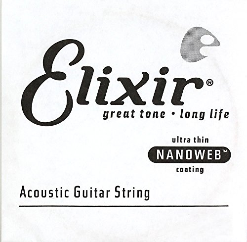 Elixir Strings 14147 Acoustic Phosphor Bronze Guitar Saite Nanoweb Coating (.047 Zoll)