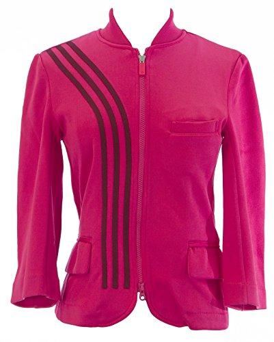Y-3 YOHJI YAMAMOTO Adidas Women's Zip Up Track Jacket Sz S Flamingo