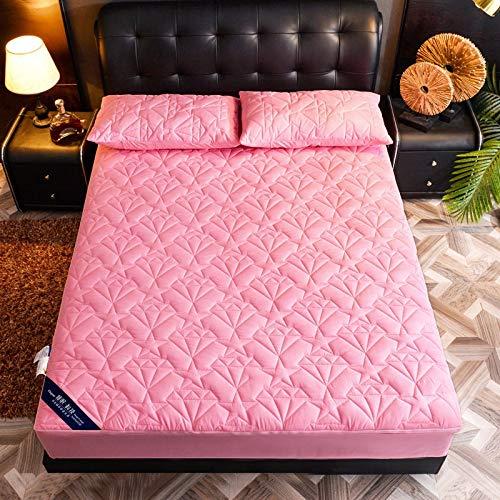 LANG ZI Protector de colchón Impermeable - Funda de colchón Extra Profunda de 25 cm - Funda de colchón Transpirable, hipoalergénica y silenciosa con Cremallera (Color : H, Size : 200 * 220CM)