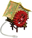 Penn-Plax Aerating Action Ornament, Rice Mill – Spinning Wheel – Small