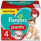 Pampers Windeln Pants Größe 4 (9-15kg) Baby Dry, 160 Höschenwindeln, MONATSBOX