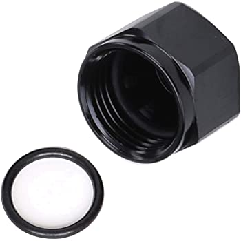 TCTAuto 10 AN Cap Male Flare Block Off Fitting Adapter for Gas Fuel Oil Coolant Air Anodized Black Cap Plug Nut