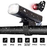 Wxxdlooa Fahrradbeleuchtung Fahrrad Anti-Glare-Current-Licht, USB aufladbare...