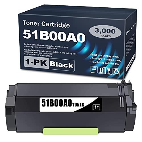 1 Pack 51B00A0 Black Toner Cartridge Compatible MS317 Replacement for Lexmark MX517de MX617de MS317dn MS417dn MS517dn MS617dn MX317dn MX417de Printer.
