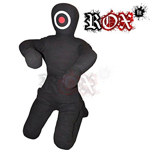 Maniquí realista ROX Fit para practicar jiujitsu brasileño, Full Black