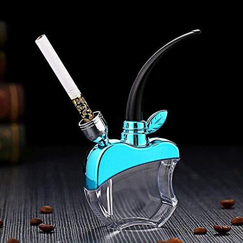 ZAQXSW-yandou Bar Tabakpfeifen Wasserpfeife Shisha Zigarettenspitze Filter M?nner kiffen Huka des Rauchens gemacht gut für Geschenk (Color : Blue)