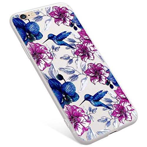 Uposao iPhone 6S Coque,iPhone 6 Coque Matte Etui Premium Semi Transparent Motif Mandala Coque Soft TPU Silicone Anti-Choc Bumper Ultra Mince Hybrid Slim Case Coque iPhone 6/6S