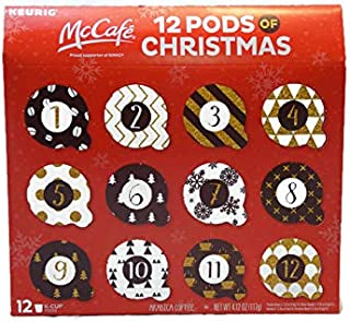 McCafe 12 Pods of Christmas Arabica Coffee - Keurig - 4.12 oz - 12 K-cup pods