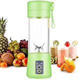 Prakal Home Smoothie Blender-Six Blades in 3D, Mini Travel Personal Blender with USB Rechargeable Batteries,Household Fruit Mixer,Detachable Cup,USB Juicer Cup
