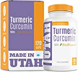 Turmeric Curcumin with BioPerine - Best Absorption and Bioavailability, Anti-Inflammatory and Natural Antioxidant with 95% Curcuminoids for Increased Immunity and Joint Pain Relief - 120 Capsules