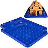 Brick Building Construction Eating Plate (2 Pack) - Stack & Build Your Brick-Shaped Waffles on Fun Novelty Plate as Seen on Kickstarter - Fun Gift for Kids & Adults, Waffle Maker Not Included
