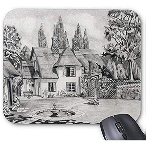 Mausepad Mousepad Nette Bleistift-Zeichnungs-Landschafts-Skizzen Mousepad Weihnachten, Ostern