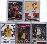 LeBron James Cleveland Cavaliers Assorted Basketball Cards 5 Card Lot