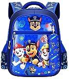 YKKJ Mochila Paw Patrol Niño, mochila para niños de dibujos animados impresos en 3D para niños en edad preescolar, jardín de infantes y escuela primaria. (Azul