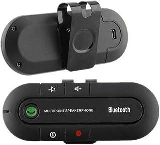 ワイヤレスマルチポイントオーディオ音楽受信機Bluetooth Hands Freeバイザースピーカーホン車キット ブラック Alician