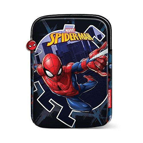 Karactermania 37496 Funda Tablet Marvel Superhero Spiderman, Niños, 28.5 cm, Azul