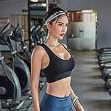 Sujetador Deportivo Mujer Nylon Fitness Mujeres Correas Cruzadas Sin Costuras Ahueca hacia Fuera Gimnasio Baile Yoga Entrenamiento Ideal para Deportes O Uso Diario-Black_XL