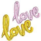 XXL LUFTBALLONS Globo con letras de amor, decoración de boda, compromiso, 73 cm, dorado