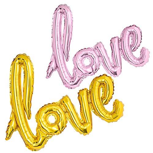 Palloncini XXL a Forma di Cuore, in Pellicola, per Matrimonio, Fidanzamento Gold