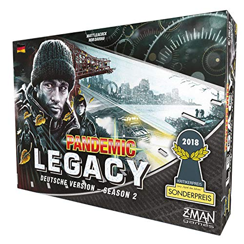 Z-Man Games zmnd0004 Pandemic Legacy – Season 2 Negro
