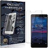 OnScreen Schutzfolie Panzerglas kompatibel mit Nokia 7 Panzer-Glas-Folie = biegsames HYBRIDGLAS, Bildschirmschutzfolie, splitterfrei, MATT, Anti-Reflex - entspiegelnd