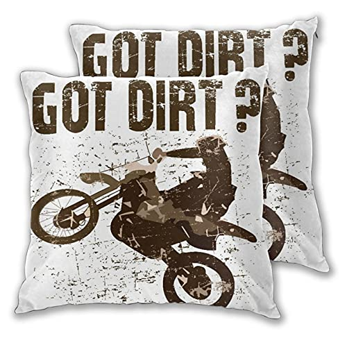 CONICIXI Throw Pillow Covers Set of 2 Got Dirt Bike Motorcross Racing Pillowcase for Living Room Bedroom Sofa Couch Decorative Cushion Cover without Pillow 45cm x 45cm