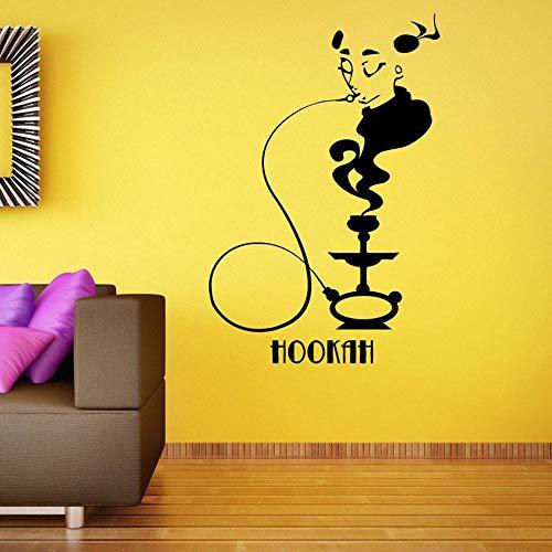XCJX Shisha Wandaufkleber Kunst Wandtattoo Home Decoration Wallpaper Shisha Bar Rauchablage Selbstklebendes Muster Abnehmbar 68,4x44,4 cm